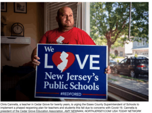 Action to oppose school reopening in New Jersey